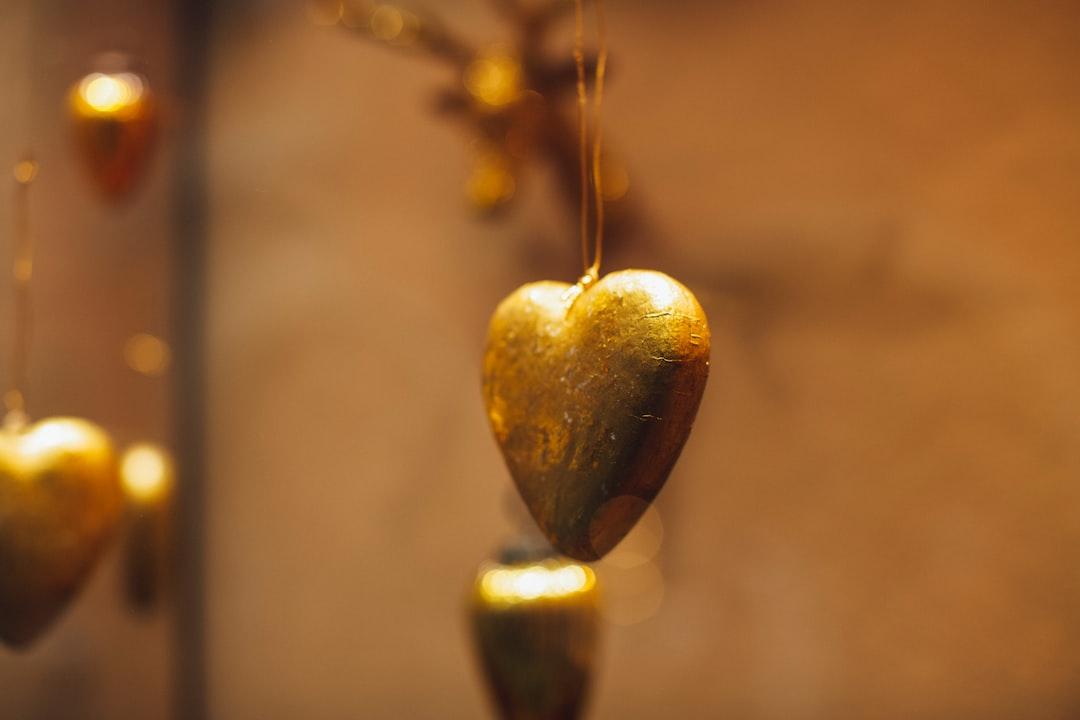 Handcraft golden heart love goldsmith