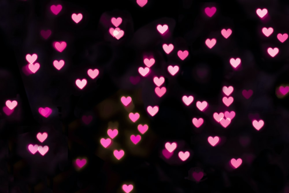 pink and white heart light