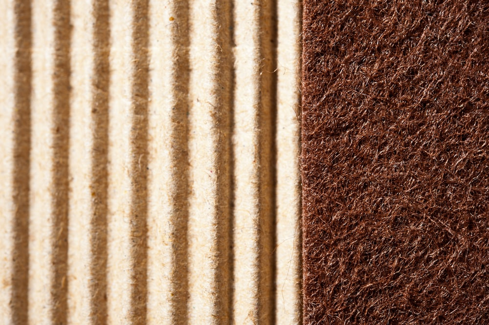 white and brown fleece textile