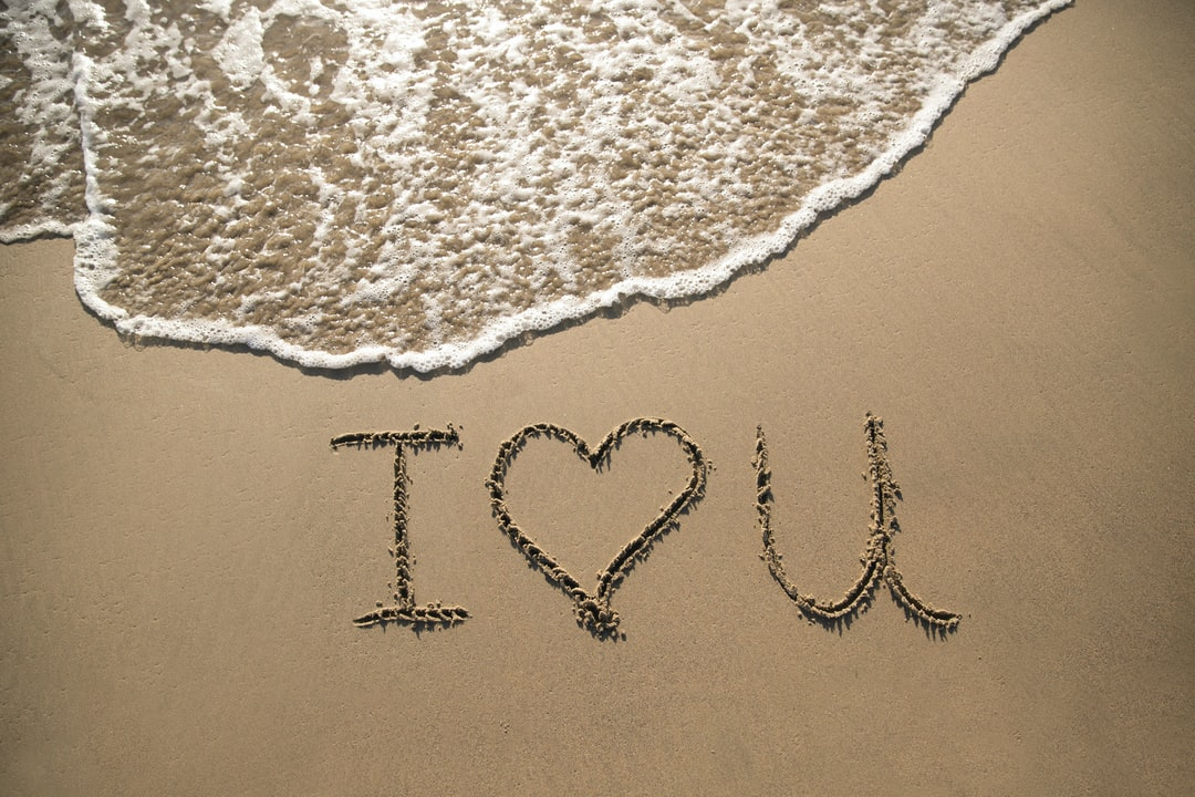 I Heart You In the Sand - unsplash