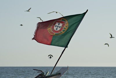 green red and yellow flag on boat during daytime portugal teams background