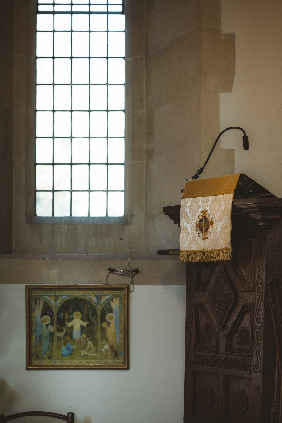 Pulpit in church