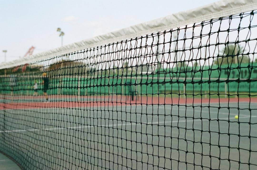 Tennis net. Shot on 35mm film. Kodak Portra 400