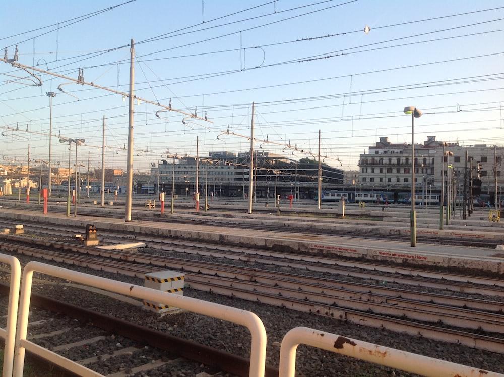 brown and white train rail