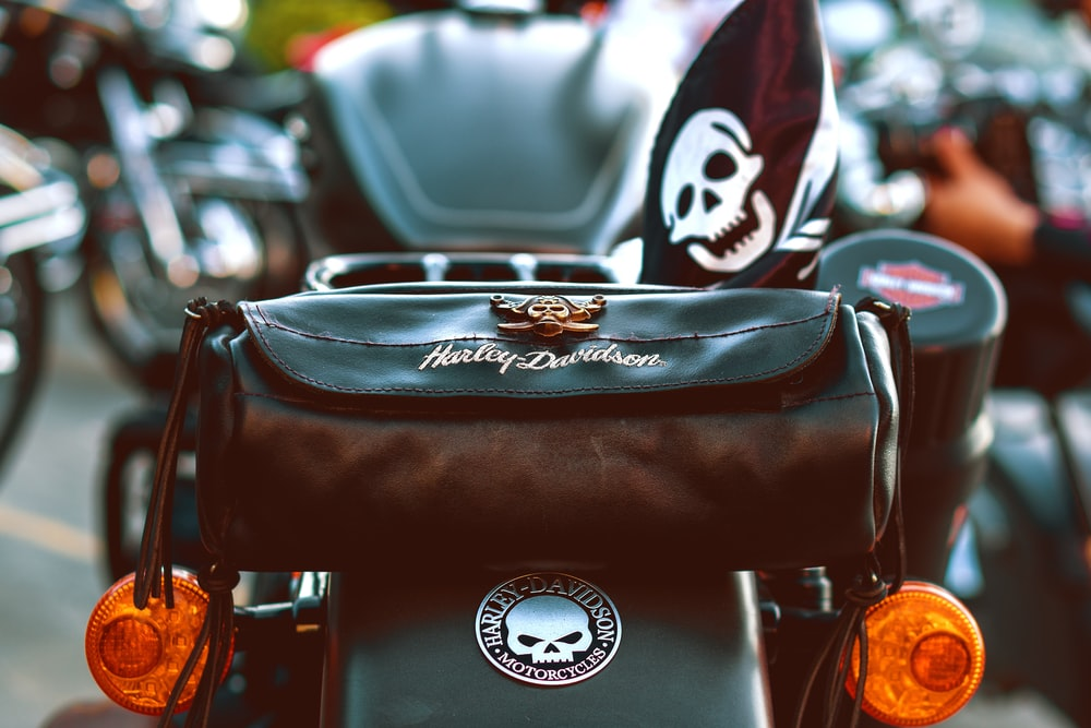 brown and black leather motorcycle seat