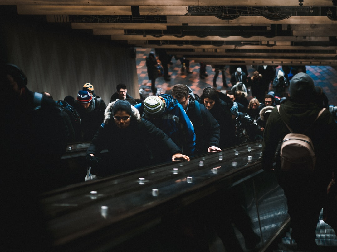 passengers leaving the subway