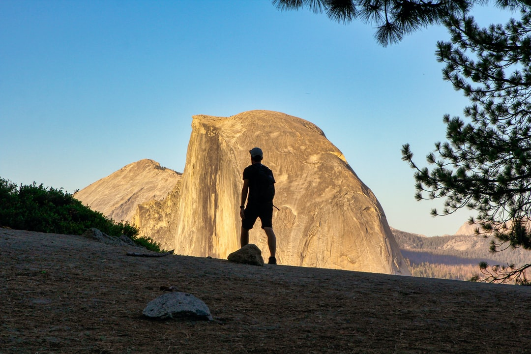 Walking to Glacier Point, to see the sunset with the massive Half Dome. Amazing!