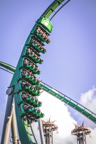 Hulk ride at Islands of Adventure theme park in Orlando