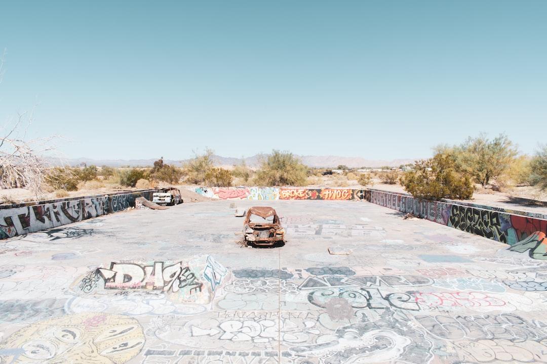 Skatepark In Slab City. Built Inside A Huge Military Base Pool. - unsplash