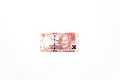 20 banknote on black textile