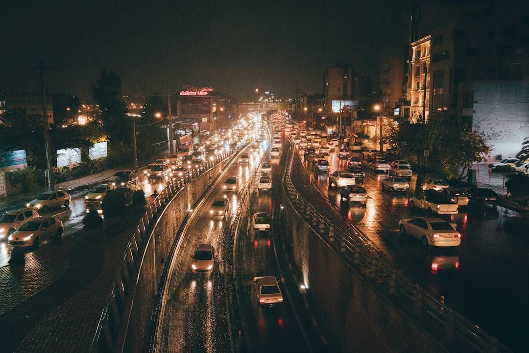 A rainy night.