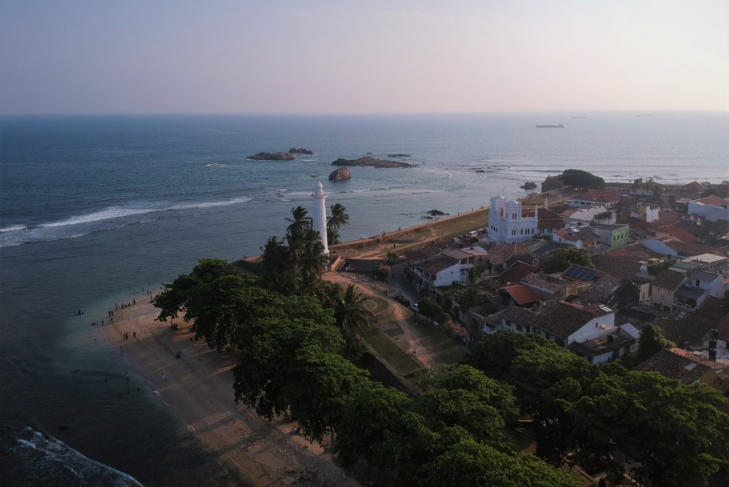 Galle in Srilanka, aerial view of Galle