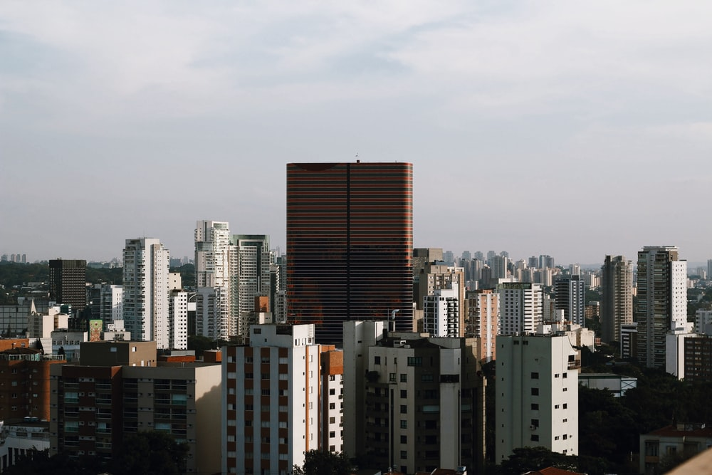brown and white high rise buildings