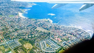 Hobart aerial view of city buildings during daytime