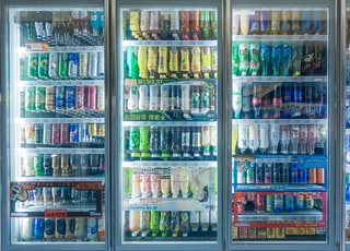 coca cola bottle on shelf
