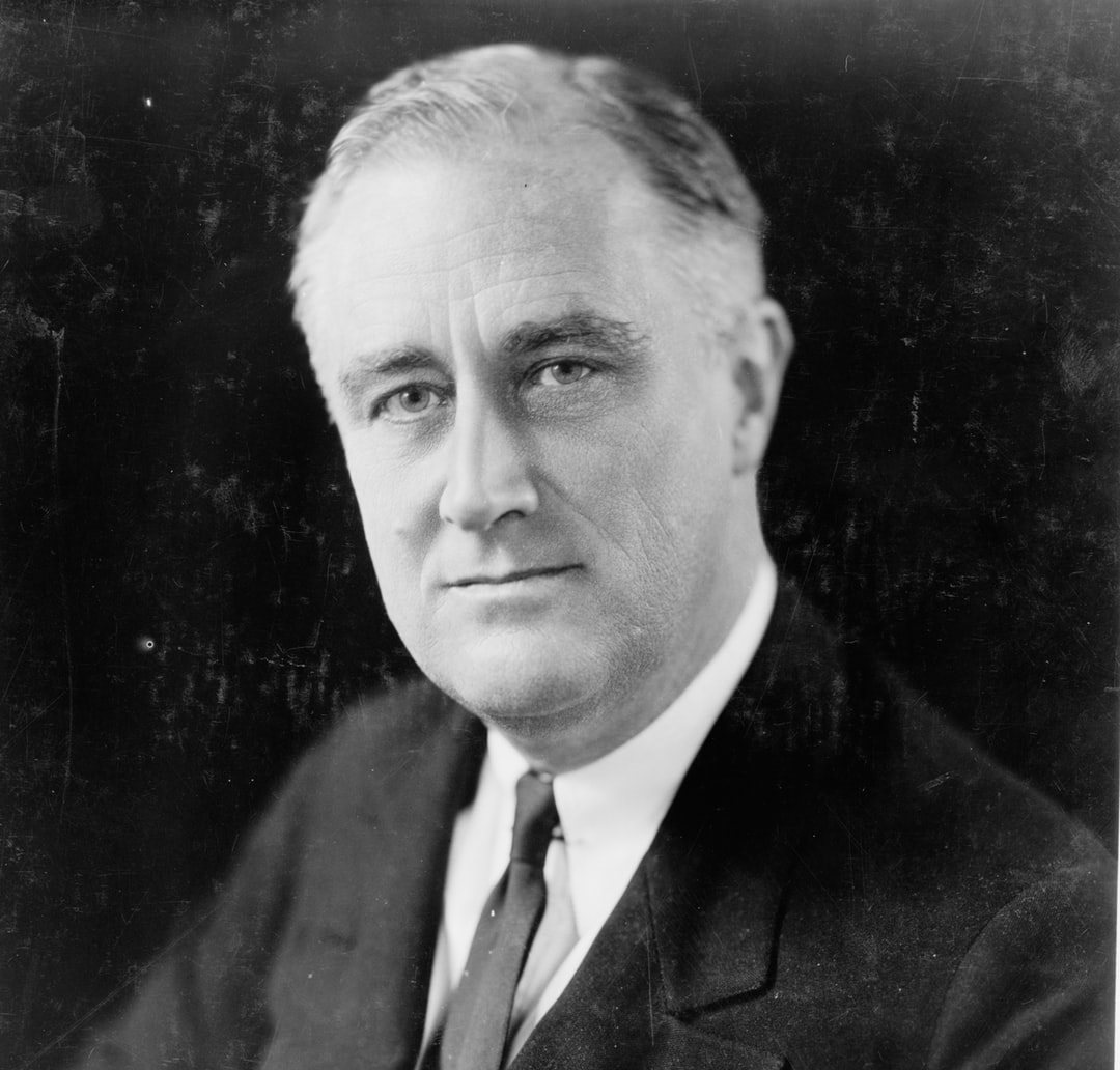 [Franklin Delano Roosevelt, head-and-shoulders portrait, facing slightly left]. Photograph by photographer Elias Goldensky, c1933. From the Presidential File Collection. Library of Congress Prints & Photographs Division.  https://www.loc.gov/item/96523441/