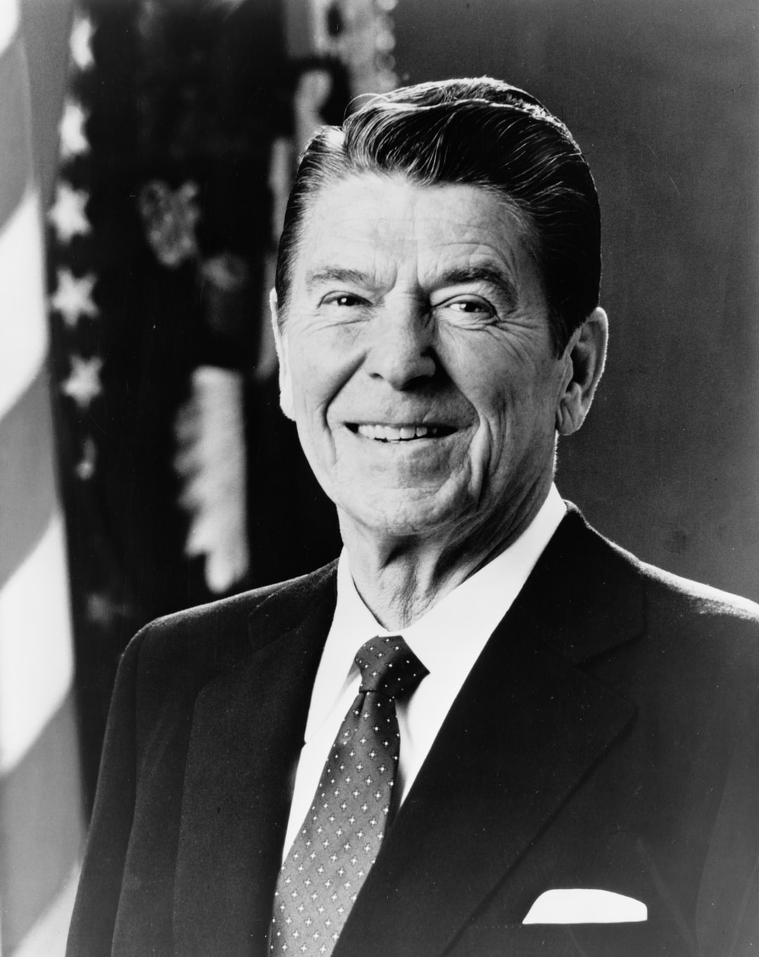 [Ronald Reagan, head-and-shoulders portrait, facing front]. Photograph from the Presidential File Collection, 1981. Library of Congress Prints & Photographs Division.   https://www.loc.gov/item/96522678/