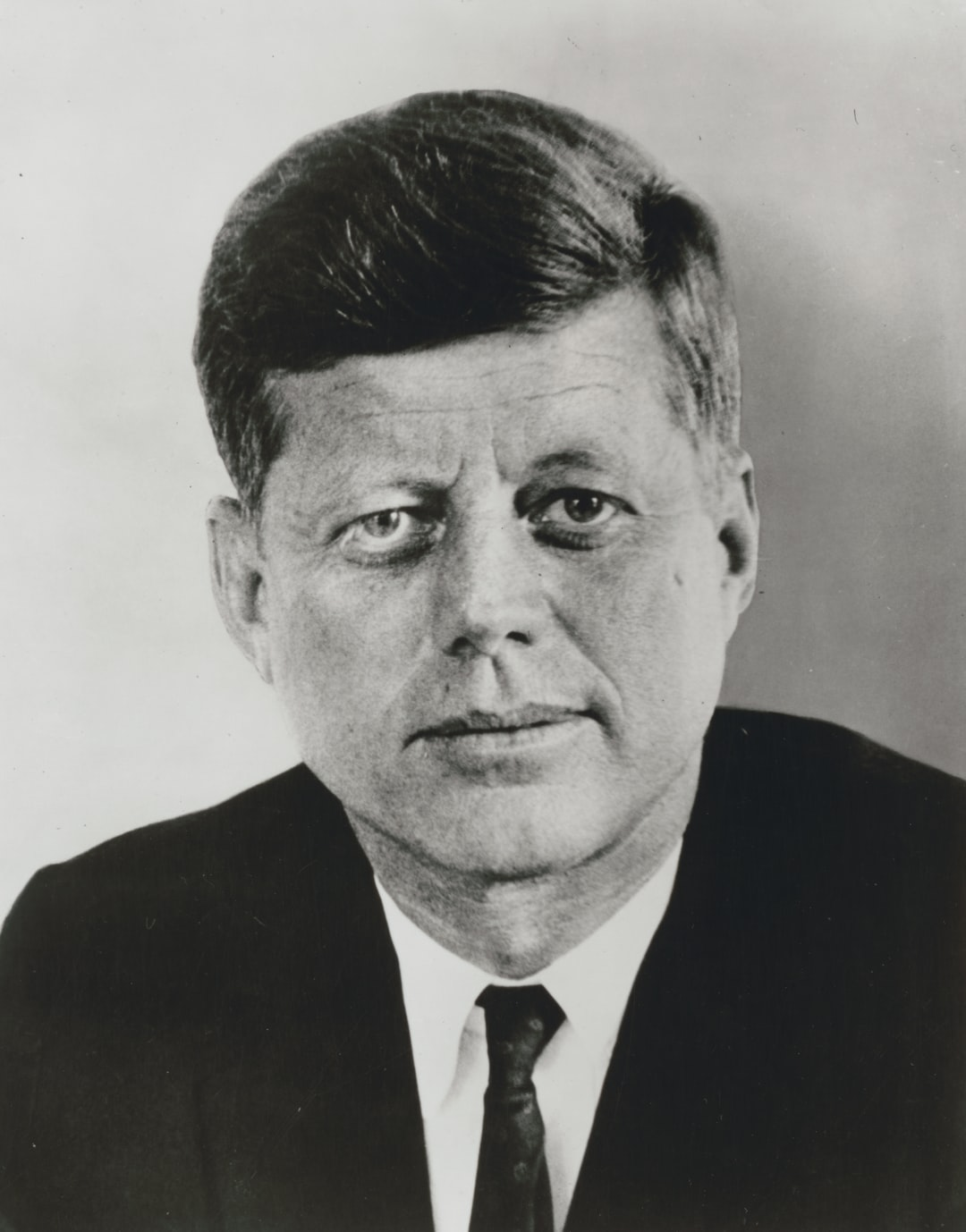 [President John F. Kennedy, head-and-shoulders portrait, facing front].  Photograph from the Presidential File Collection, 1961. Library of Congress Prints & Photographs Division.  https://www.loc.gov/item/96523447/