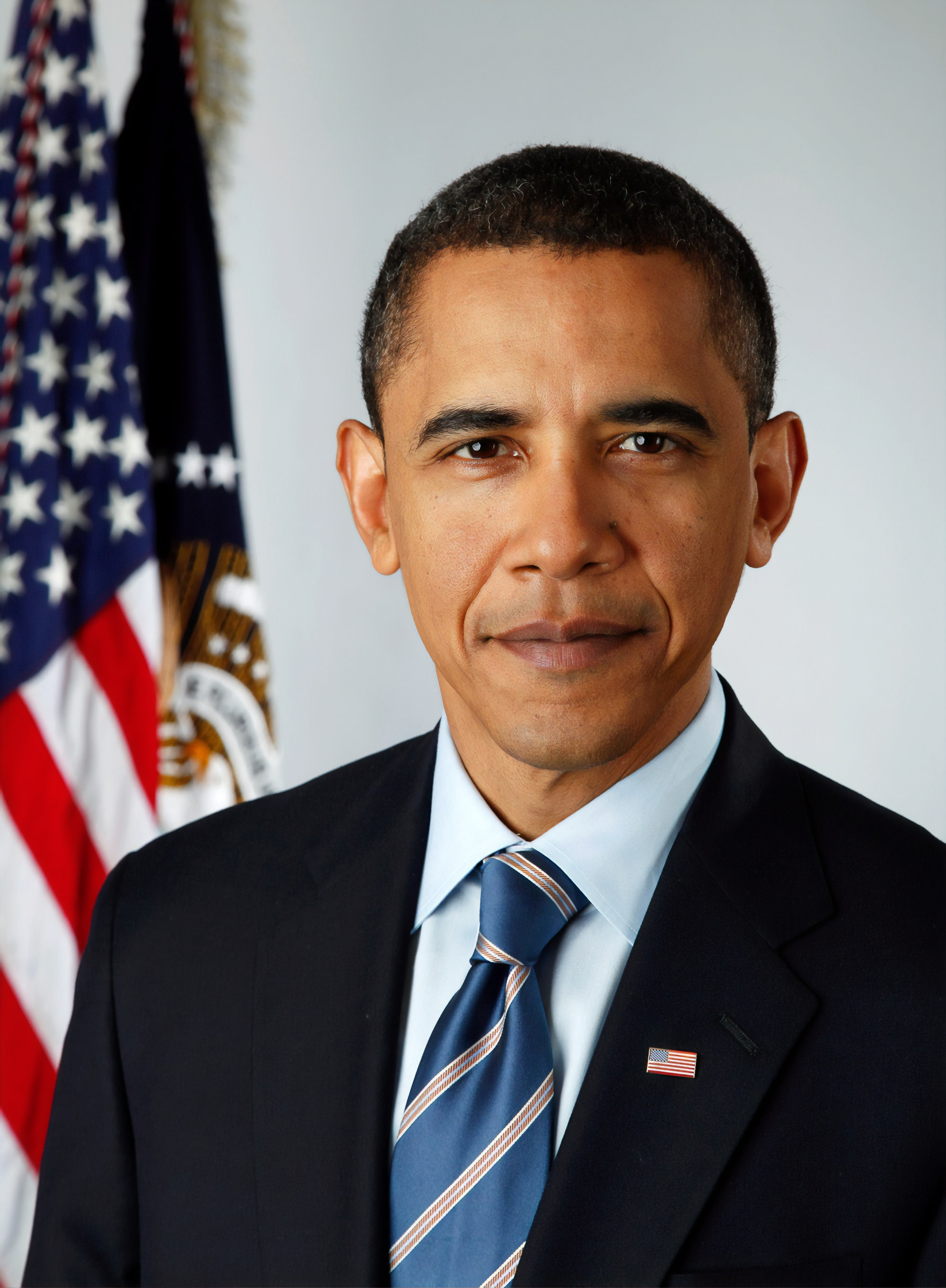 Official portrait of President-elect Barack Obama. Digital photograph by photographer Pete Souza, 2009. Library of Congress Prints & Photographs Division.   https://www.loc.gov/item/2010647151/
