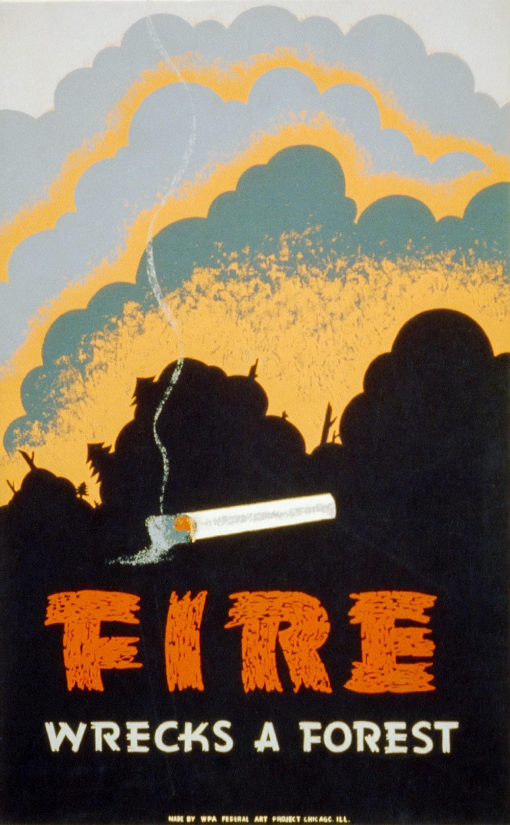 Fire Wrecks a Forest, WPA Poster