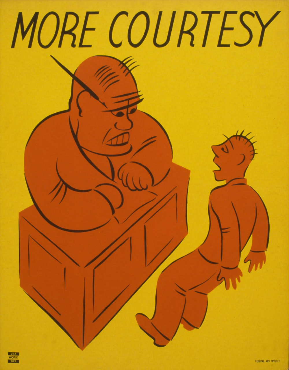 More Courtesy. WPA poster.