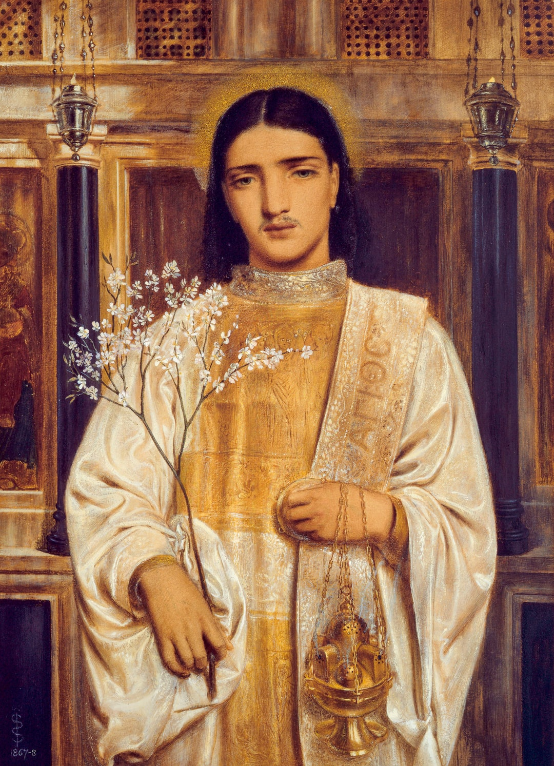 A Saint of the Eastern Church (formerly called A Greek Acolyte), 1867-68. Artist: Simeon Solomon
