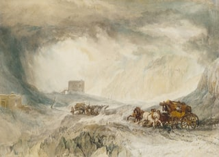 Snowstorm, Mont Cenis, 1820 by JMW Turner