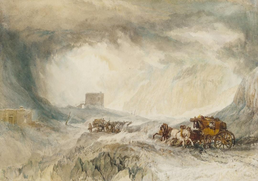 Snowstorm, Mont Cenis, 1820 By Jmw Turner - unsplash