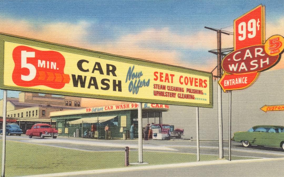 5 Min. Car Wash date: [ca. 1930–1945] - unsplash