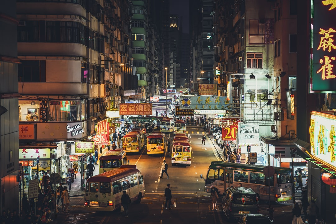 Mong Kok at night in Hong Kong!   If you're new to my Unsplash account and you're curious about how we can travel around the world and record sounds full-time, just follow us here on Instagram @freetousesounds because we love to talk about it and share our journey!  If you are looking for royalty free sound recordings just visit our website www.freetousesounds.com