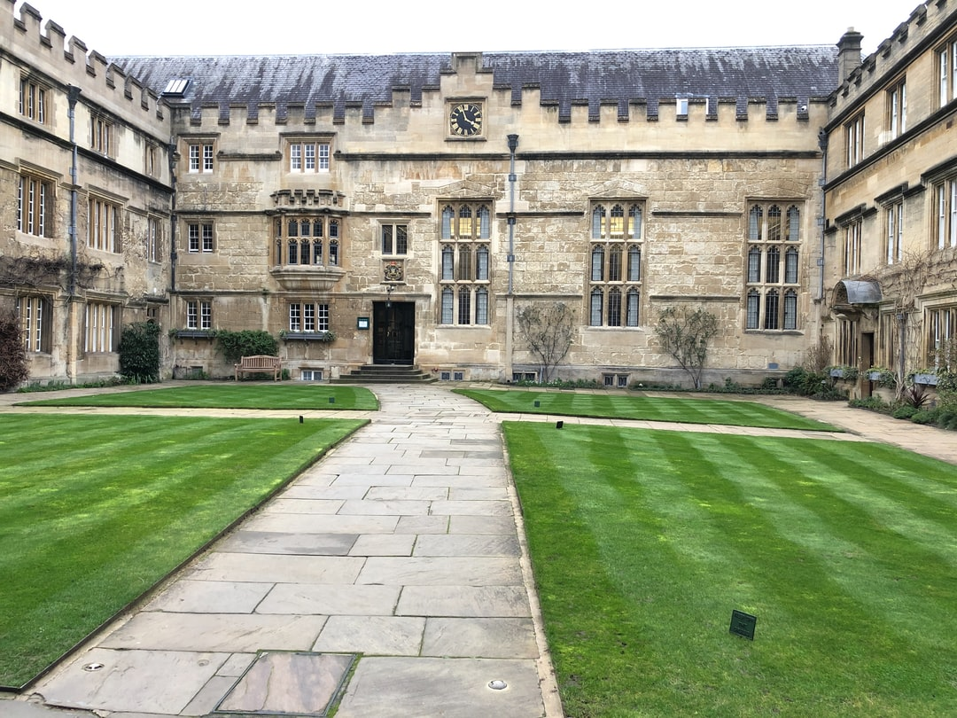 Oxford, College, University, architecture, accommodation, green, walls, student life