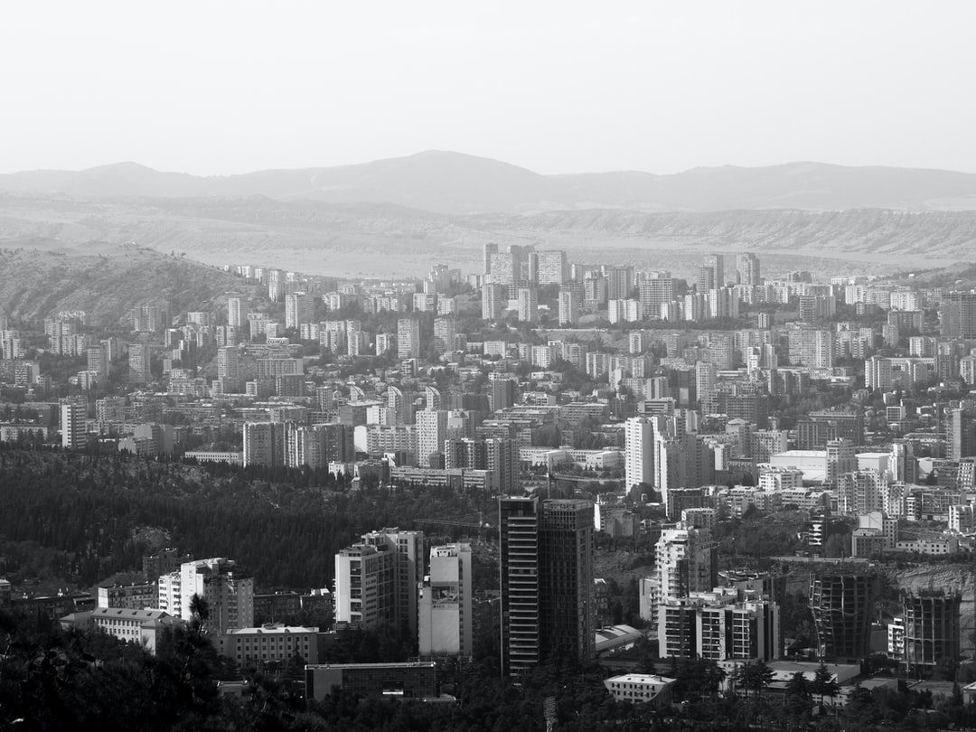 Residential building dominating the view on the outskirts of Tbilisi, Georgia – the slightly different gaze!