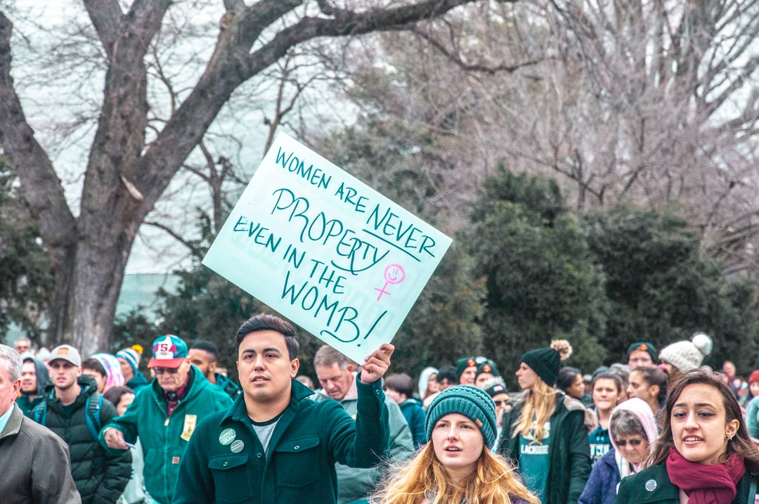 a sign at the March for Life