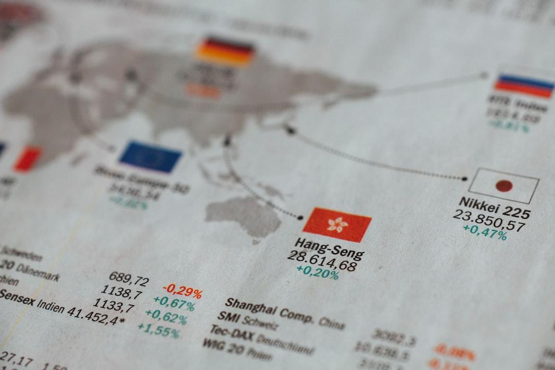 Newspaper stock exchange wall street stocks wordl index Hang-Seng Nikkei DAX Dow Jones