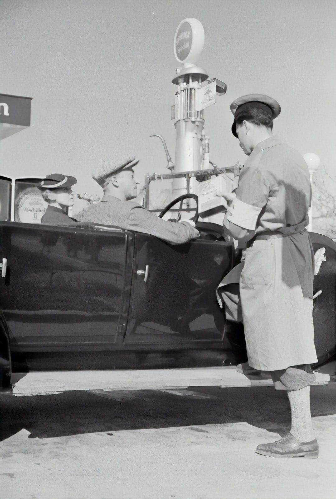 Petrol station in Kagran. 1935