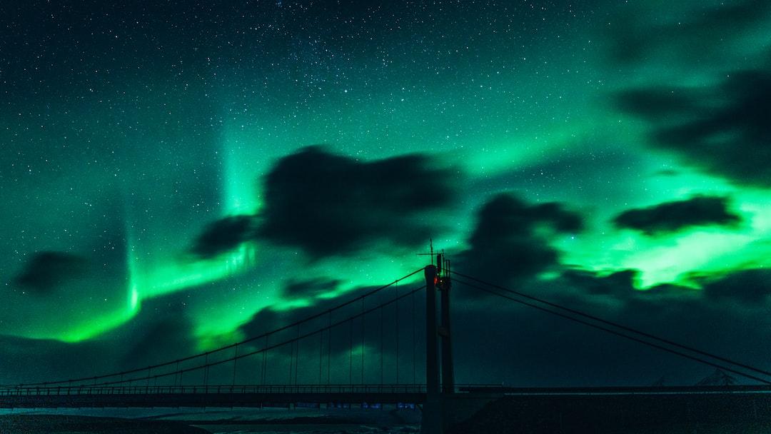 Bridge Under Green Sky With Stars - unsplash