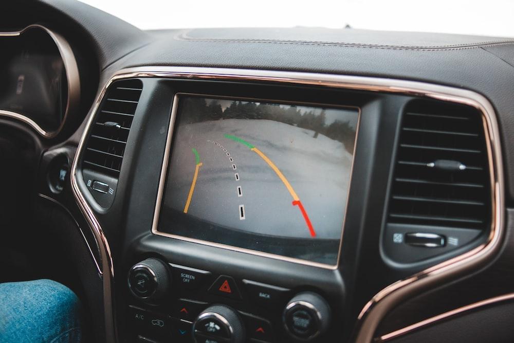 black car stereo at 1