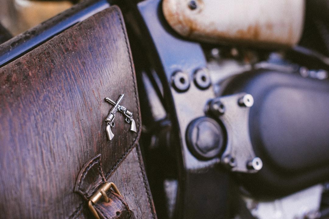 custom motorcycle details: bag
