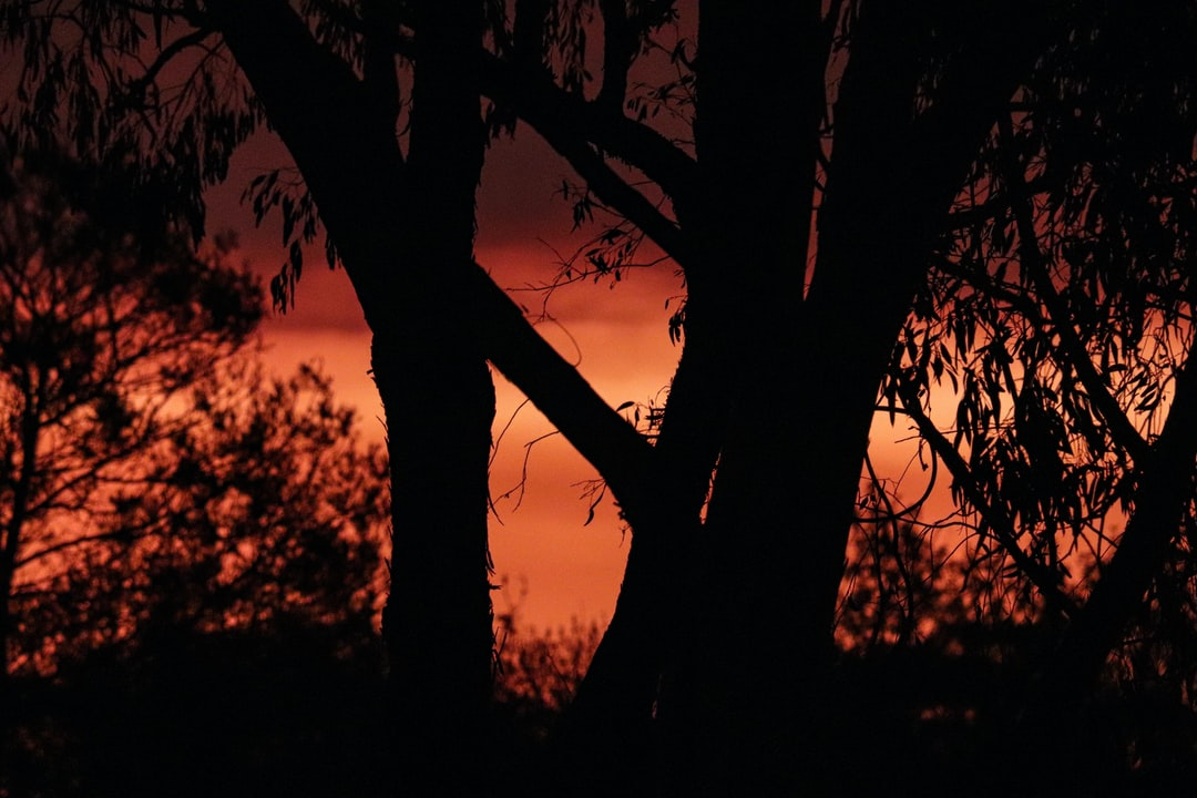 Canberra sunset over the fires in the south