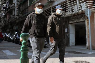men wearing masks in macau during coronavirus coronavirus zoom background