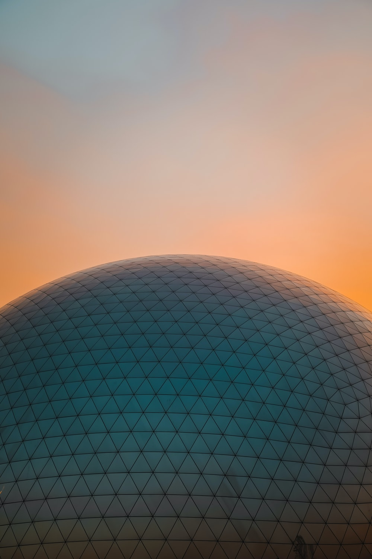 blue ball with orange background