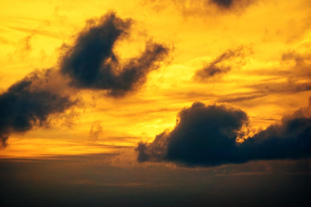 Golden sky.
