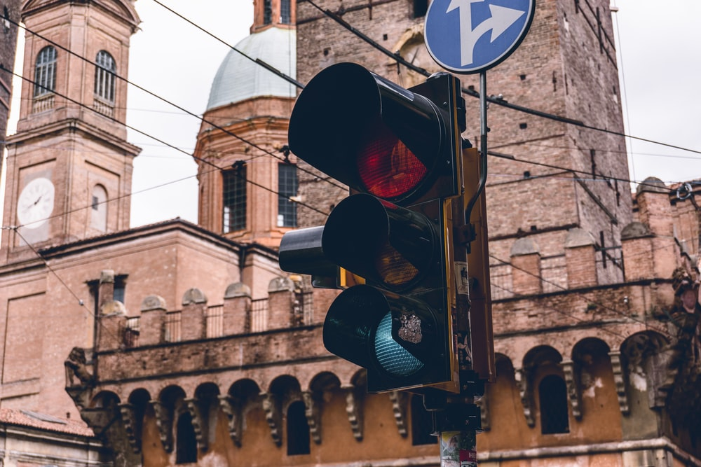traffic light on red light