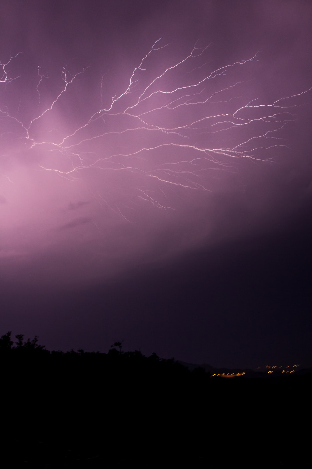 Insane lightening storm, taken in Slime, Croatia.