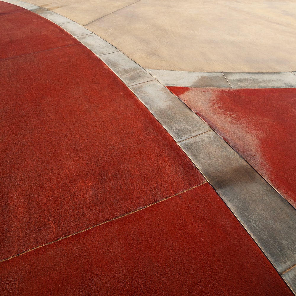 red white and gray concrete floor