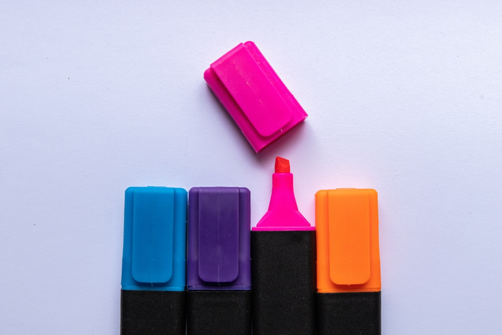 pink and purple plastic case