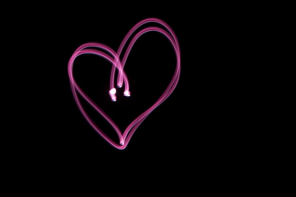 purple heart shape clip art