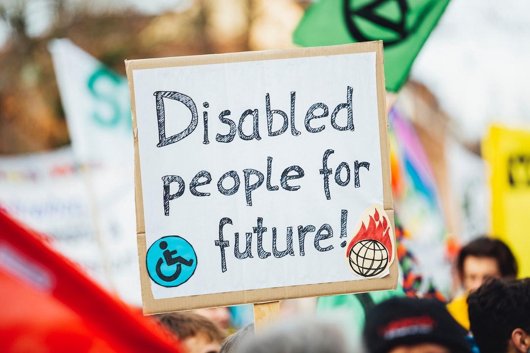 Disabled People For Future – Fridays For Future Demonstration Protest Strike Global Climate Change - unsplash