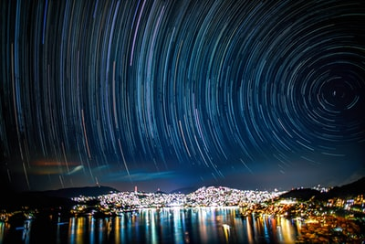 time lapse photography of lights on city during night time zihuatanejo teams background