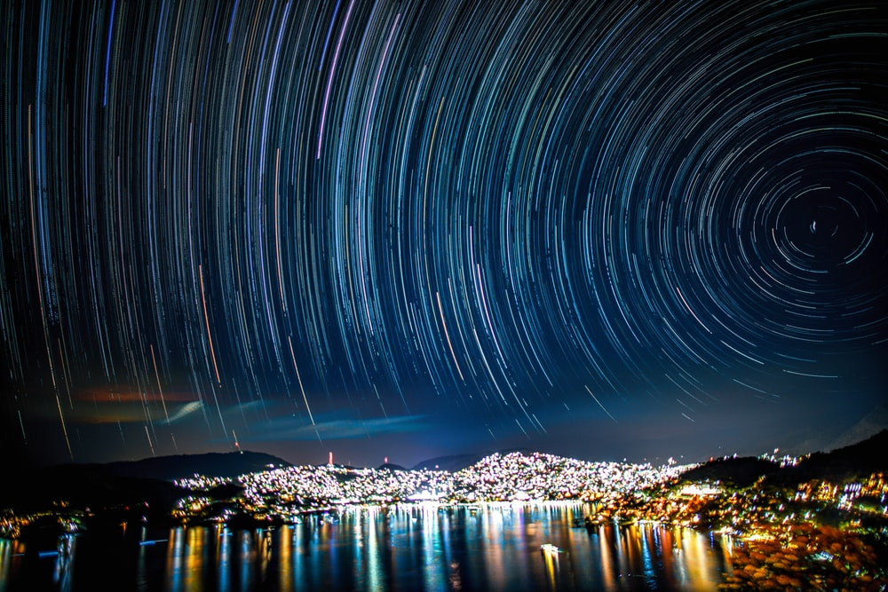 time lapse photography of lights on city during night time
